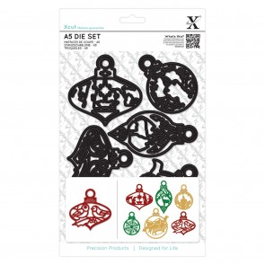 A5 Die Set (6pcs) - Christmas Paper Cut Baubles