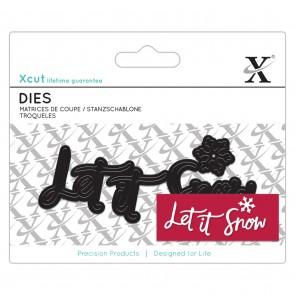 Mini Sentiment Die (4pcs) - Let It Snow