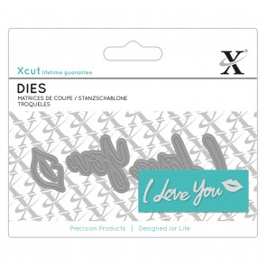 Mini Sentiment Die (4pcs) - I Love You