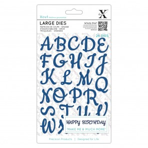 Large Dies  (26pcs) - Script Alphabet Upper Case