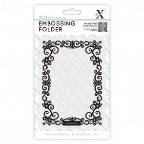 A6 Embossing Folder - Floral Frame