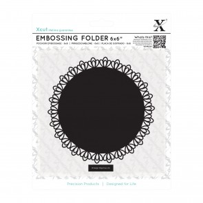 "6 x 6"" Embossing Folder - Filigree Circle"
