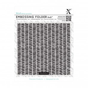 "6 x 6"" Embossing Folder - Herringbone Pattern"