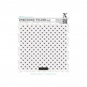 "6 x 6"" Embossing Folder - Small Polka Hearts"