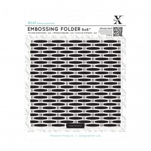 "6 x 6"" Embossing Folder - Wicker"