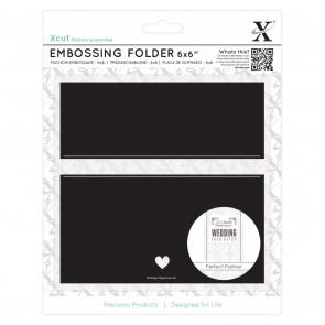 """6 x 6"""" Embossing Folder - Banner"""