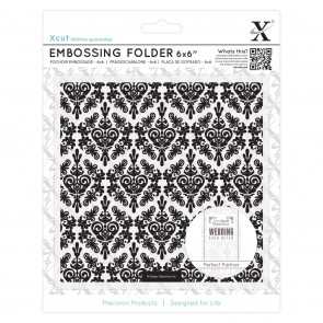 "6 x 6"" Embossing Folder - Damask Background"
