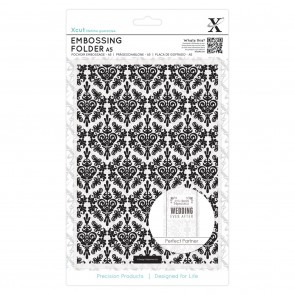 A5 Embossing Folder - Damask Background