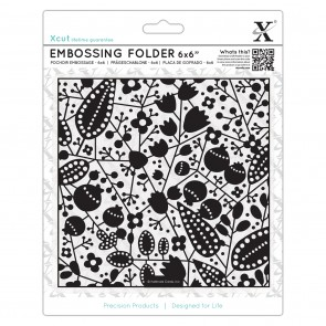 "6 x 6"" Embossing Folder - Berries"