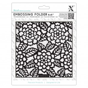 "6 x 6"" Embossing Folder - Chrysanthemums"