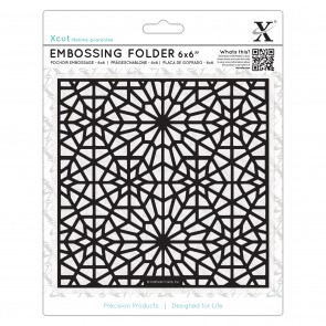 "6 x 6"" Embossing Folder - Moroccan Star Pattern"