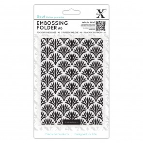 A6 Embossing Folder - Art Deco Pattern