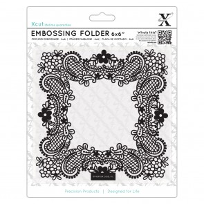 "6 x 6""  Embossing Folder - Ornate Frame"