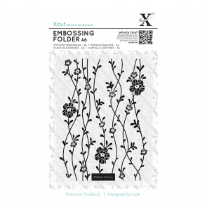A6 Embossing Folder - Blossom Vines