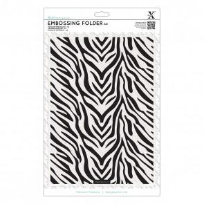 A4 Embossing Folder - Zebra Print