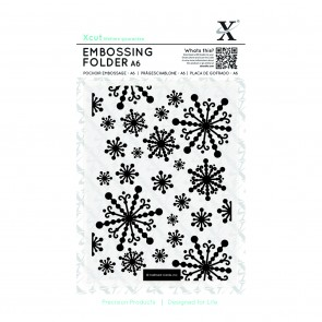 A6 Embossing Folder - Beautiful Snowflakes