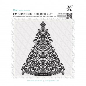 "6x6"" Embossing Folder - Arts & Crafts Tree"