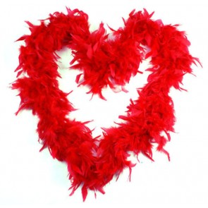 Feather Boa Red (1.8 Metres)