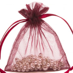 Organza Bag 7X9cm (10 Pack) Burgandy