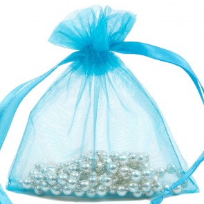 Organza Bag 10X15cm (10 Pack) Aqua