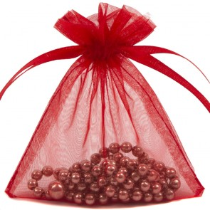 Organza Bag 7X9cm (10 Pack) Red