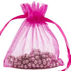 Organza Bag 10X15cm (10 Pack) Cerise