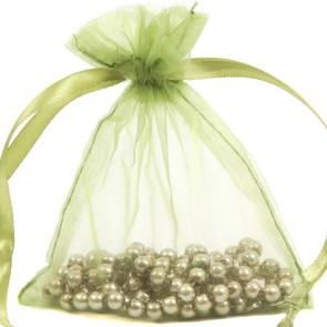 Organza Bag 7X9cm (10 Pack) Olive