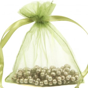 Organza Bag 10X15cm (10 Pack) Olive