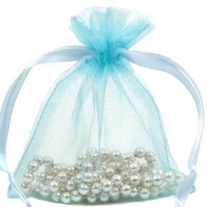 Organza Bag 10X15cm (10 Pack) Lt Blu