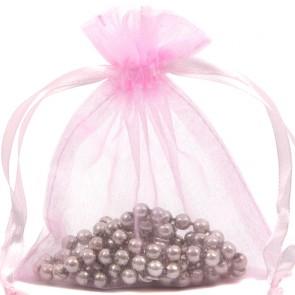 Organza Bag 7X9cm (10 Pack) Pink
