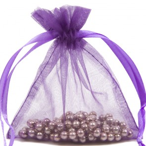 Organza Bag 10X15cm (10 Pack) Purple