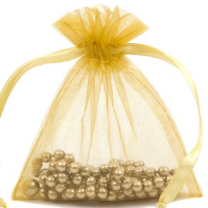 Organza Bag 7X9cm (10 Pack) Gold