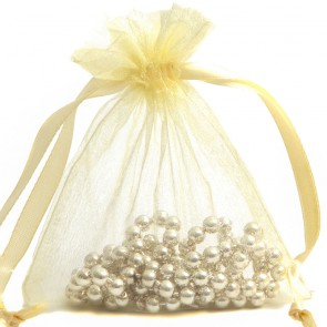 Organza Bag 7X9cm (10 Pack) Cream