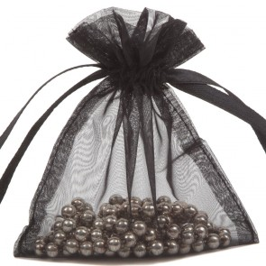 Organza Bag 7X9cm (10 Pack) Black