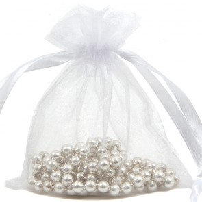 Organza Bag 7X9cm (10 Pack) White
