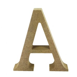 Wood Letter 11cm Natural A