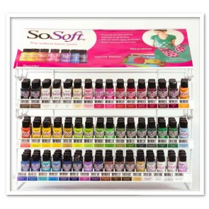SoSoft Fabric Paint 30ml 144pc Display