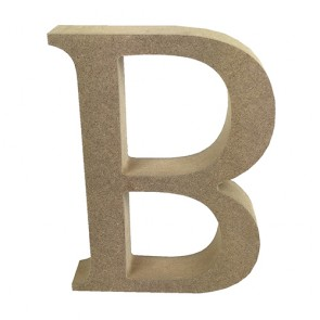 Wood Letter 11cm Natural B