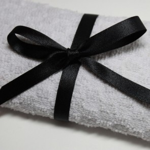 Double Face Satin Ribbon 10mm Black (25 Metres)