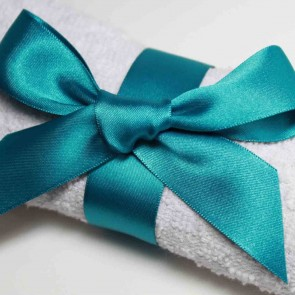 Double Face Satin Ribbon 10mm Jade (25 Metres)