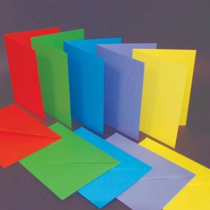 C6 Cards & Envelopes Bright (50 Pack)