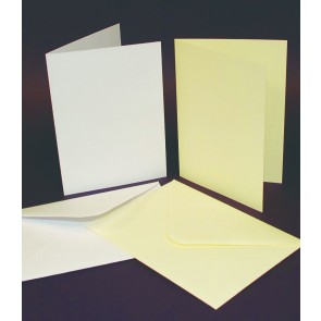 C5 Cards & Envelopes White (25 Pack)