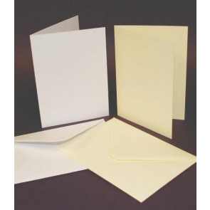 C6 Cards & Envelopes White (50 Pack)