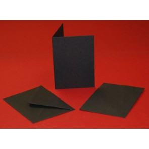 A6 Cards & Envelopes Black (5 Pack)