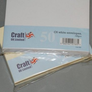 C6 Envelopes White (50 Pack)