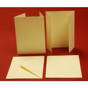 A6 Hammered Cards & Envelopes Wardrobe Ivory (10 Pack)