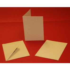 C6 Cards & Envelopes Kraft (50 Pack)