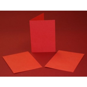 A6 Cards & Envelopes Red (5 Pack)