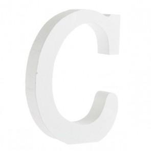 Wood Letter 11cm White C