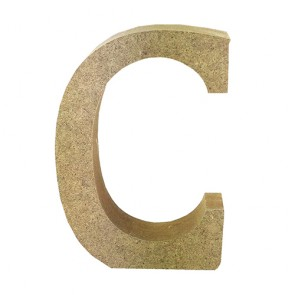Wood Letter 11cm Natural C